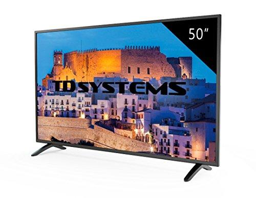 TV 50 Pouces HD LED TD Systems K50DLM8F. Téléviseur Full HD, 3x HDMI, VGA, USB Lecteur et...