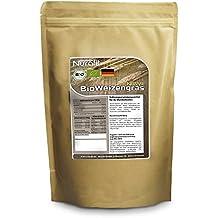 Nurafit Weizengras Pulver BIO | in Deutschland angebaut, verarbeitet und BIO zertifiziert | 500g / 0.5kg zertifizierte Spitzenqualität | Für leckere Smoothies während Deiner Detox Smoothie Kur