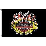 Harley Davidson-Flagge 1,5 m x 0,9 m, USA- Amerikanisches-Motorrad/Biker-Banner