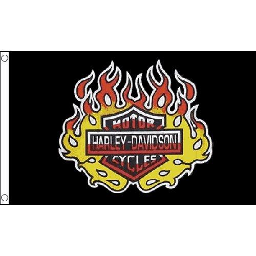 Harley Davidson-Flagge 1,5 m x 0,9 m, USA- Amerikanisches-Motorrad/Biker-Banner  Harley Davidson Biker-girl