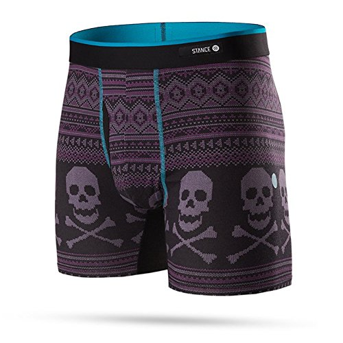 Stance Men's Bones Boxer Brief Underwear Black Nero