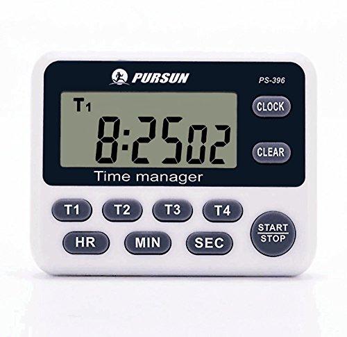 Timer da cucina, 4 canali LCD timer da cucina digitale 1 confezione