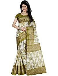 Trendz Women's Silk Saree (Tz_1036_B, Green, Free Size)