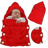 KeKeYM Baby Schlafsack Neugeborenes Baby Wickeln Swaddle Decke Stricken Schlafsack Schlaf Sack Kinderwagen Wrap für Baby (0-12Month)