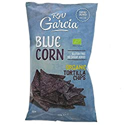 Garcia Blue Corn Tortilla Chips - Organic - 12 X 150g