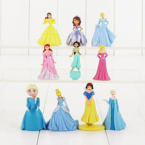 Figuras de princesa Disney para decoración de tartas de juguete de Frozen Jasmine para niños bolsa de fiesta relleno