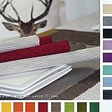 4 Tischsets BREEZE im SPARPAKCK von Sander Rips Baumwolle große Farbauswahl (27 - stein/granit)