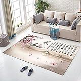 QIAO Chinesischen Stil Teppich Wohnzimmer Couchtisch Schlafzimmer Nacht Küche Badezimmer Anti-Rutsch-Matte (Farbe : B, größe : 160x230cm)