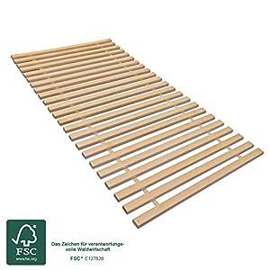 madera Zweier Set Rollrost XXL mit 23 extra stabilen Leisten aus massiven Buchenholz, belastbar bis ca. 280 kg Größe…
