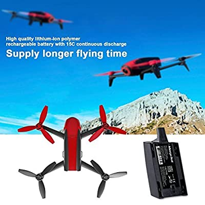 Parrot Bebop Drone 1.0 Battery, Morpilot Battery Lipo Rechargeable 1700mAh 11.1V 3S 15C 18.87 Wh High Capacity Battery Pack ( 2 Pack) from Morpilot