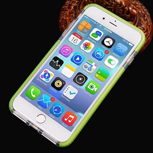 Hülle für iPhone 7 plus , Schutzhülle Für iPhone 7 Plus Plaid Texture Transparente TPU Schutzhülle ,hülle für iPhone 7 plus , case for iphone 7 plus ( Color : Grey ) Green