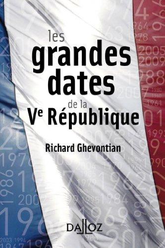 Les grandes dates de la Ve République (À savoir)