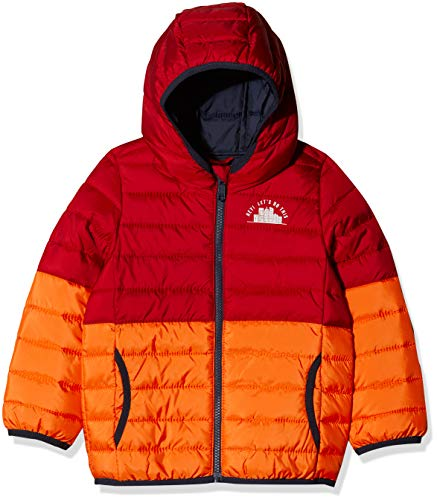 s.Oliver RED Label Junior Jungen Wattierte Colourblocking-Steppjacke red/orange 104