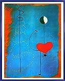 Joan Miró Poster Kunstdruck und Kunststoff-Rahmen - Ballerina, 1925 (50 x 40cm)