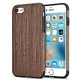TENDLIN iPhone 7 Hülle/iPhone 8 Hülle mit Holz und Flexiblem TPU Silikon Weiche Schutzhülle für iPhone 7 und iPhone 8 (Schwarz Palisander)