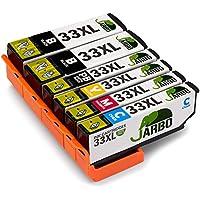 JARBO Compatibles Epson 33 XL Cartouche d'encre Grande capacité Compatible avec Epson Expression Premium XP-530/540/630/635/640/645/830/900 (2 Noir,1 Photo Noir,1 Cyan,1 Magenta,1 Jaune)