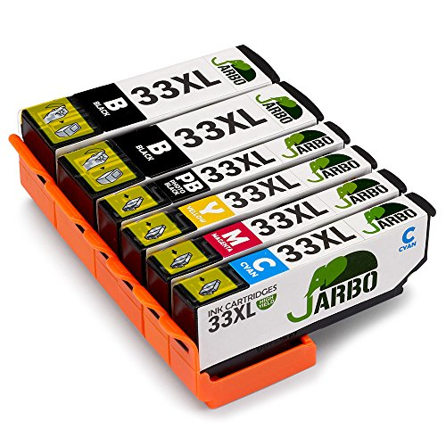 JARBO Kompatibel Epson 33XL Druckerpatronen mit Chip Hohe Kapazität Kompatibel mit Epson XP-530 XP-540 XP-630 XP-635 XP-640 XP-645 XP-830 XP-900 (2 Schwarz,1 Foto Schwarz,1 Cyan,1 Magenta,1 Gelb) (Foto Tinte Magenta)