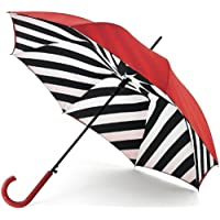 Lulu Guinness Walking Umbrella Bloomsbury 2 Diagonal Lines Ltd Edition