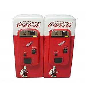 Ceramic Coca-Cola Vending Machine Salt & Pepper Pots - Licenced Product