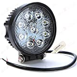 #10: AllExtreme Heavy Duty Flood Beam Auxiliary LED Lamp for Cars and Bikes (27W) 9 LED Lights