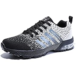 Senbore Sneakers Respirant Running Sports Chaussures de course Homme