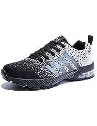 c1bb89a5d28 Senbore Chaussures de Sport basket Running Respirantes Athlétique Sneakers  Courtes Fitness Tennis Homme