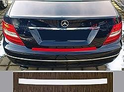 passgenau für Mercedes C-Klasse Limousine, Typ W204, 2007 - 2014; Lackschutzfolie Ladekantenschutz transparent