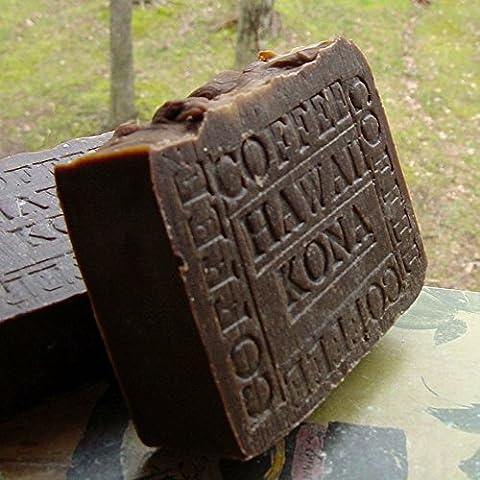 Hawaiian Kona- Coffee Soap Natural Artisan Bar-With A Hint of Pure Vanilla 7oz Bar by Natural Handcrafted Soap