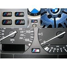 BMW - Lote de 5 pegatinas, diseño de emblema M