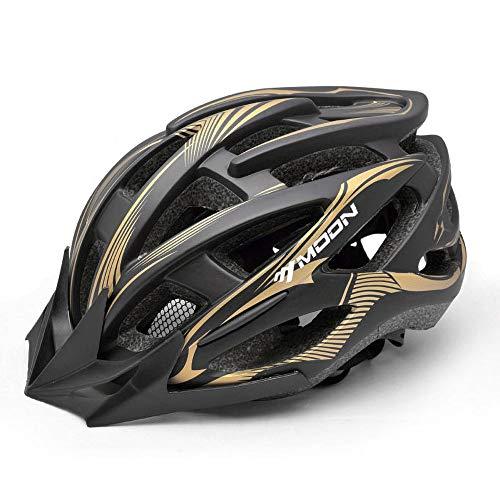 DYM258 Fahrradhelm Leichtgewicht Einteiliger Prozess Sonnenhut Belüftung Sicherheit Geeignet für Feldfahrrad Mountainbike Rennrad Helm Herren & Damen,Beige,L