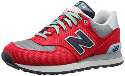New Balance WL 574 WHA Red Grey Rot