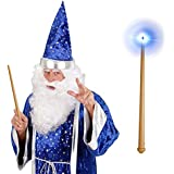 Zauberstab Magischer Stab mit Licht und Sound 36 cm Märchen Feenstab Halloween Magierstab Cosplay Lichtstab Zauberer Leuchtstab