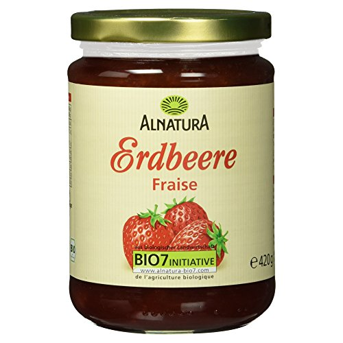 Alnatura Bio Fruchtaufstrich Erdbeer, 420 g (Bio-marmelade)