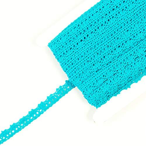 Baumwollspitze türkis 1,2 cm breit Spitze 100% Baumwolle Spitzenband - Preis gilt für 1 m