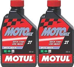 MOTUL Motomix 2T 2-Stroke Superior Motorcycle Oil Motul Motomix 2T 2-Stroke Superior Motorcycle Oil CorebikerZ Engine Oil(1000 ml)