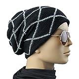 Lavorare a maglia di lana a righe caldo Cappello - iParaAiluRy unisex di lusso alla moda Cappellino morbido Slouchy Cap Hip-Hop in inverno e primavera - iParaAiluRy - amazon.it