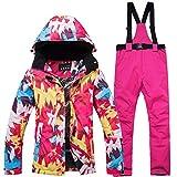 Combinaison de Ski Ski Jacket + Pantalons Snow Chaud Imperméable Coupe-Vent Skiing...