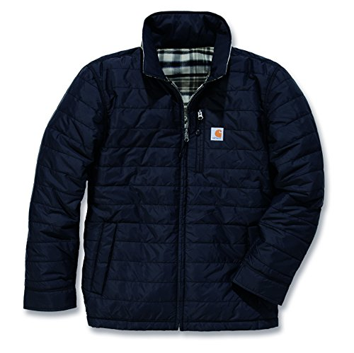 Carhartt 101440 Gilliam Reversible Shirt Jacket - Arbeitsjacke, Schwarz, XXL
