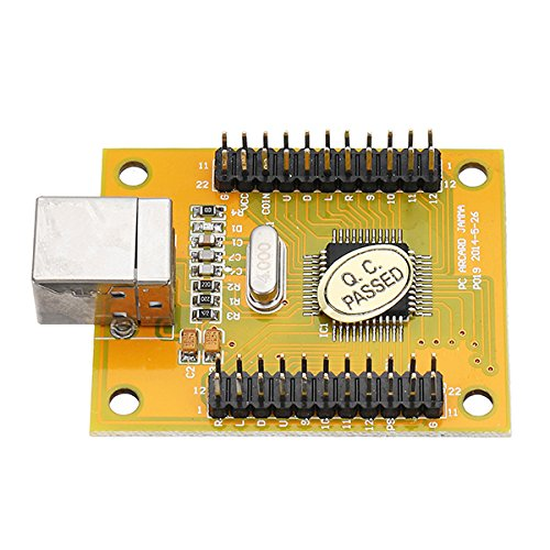 hitsan Dual Player acarde Game Controller Encoder Board mit Kabel für PS3PC One Piece