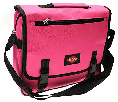 Lee Cooper  , Borsa Messenger  multicolore Grey N Pink