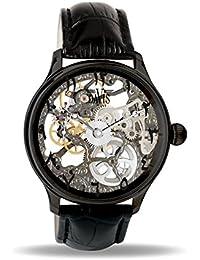 76f101f2fbe6 Davis Reloj Esqueleto para Unisex Adultos de Mecánico con Correa en Cuero  0899 East