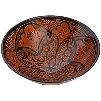 Ceramic Bowls Moroccan Handmade Serving Bowl Cinnamon Brown (Medium 10 inches) by Ceramic (Brown Ceramic Bowl)