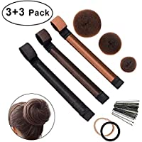 Bofect Hair Donuts Hair Bun Maker Adecuado para el cabello largo y corto - 6 Set
