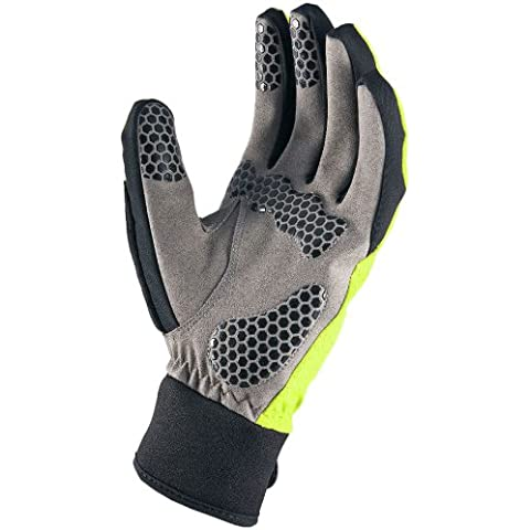 SealSkinz, Guanti Uomo All Weather Cycle, Giallo (Gelb - High Vis), XL