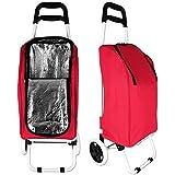 Edco Einkaufstrolley - Einkaufsroller - Kühltasche mit Trolley mit Farbauswahl (rot)
