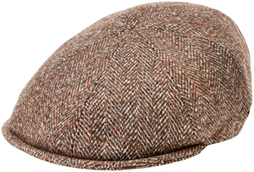 Bailey Herren Schirmmütze Purdy, Brown (Cognac/Grey), Small (Newsboy Bailey)