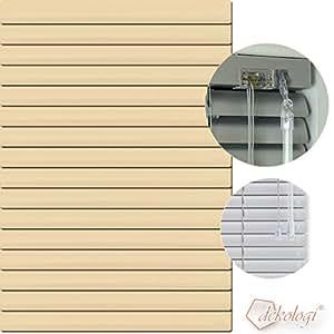 Jalousie store vénitien en aluminium 100 x 140 cm (largeur x hauteur)-lamellenfarbe 1109/jaune/beige simon store plissé en aluminium stores vénitiens