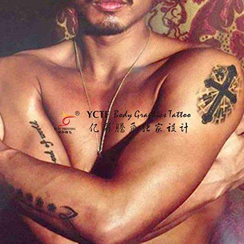 Oottati 2 fettes croce tatuaggi temporanei tf86