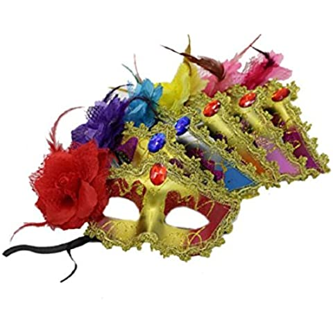Culater Lace Flower Plastic Masquerade Face Party Cosplay Carnival Fancy Mask