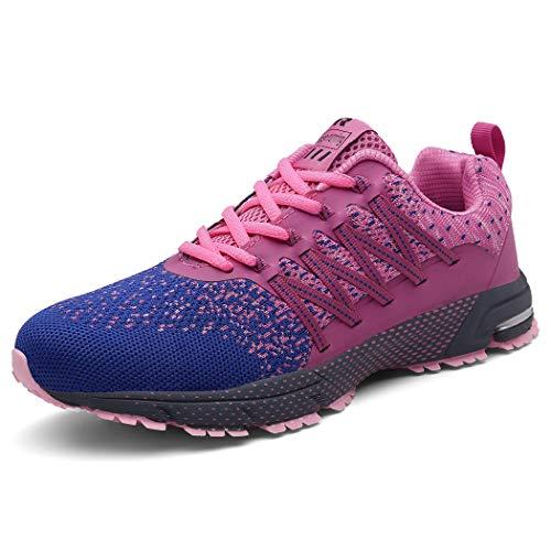 SOLLOMENSI Scarpe da Ginnastica Donna Scarpe per Correre Running Corsa Sportive Sneakers Trail Trekking Fitness Casual 39 EU A Rosa